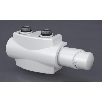 Heizkörper Armatur-Set für Mittelanschluss 50mm Eck Multiblock