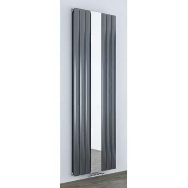 Design Spiegel Doppellagig Badheizkörper Anthrazit Mittelanschluss 1800x610x63