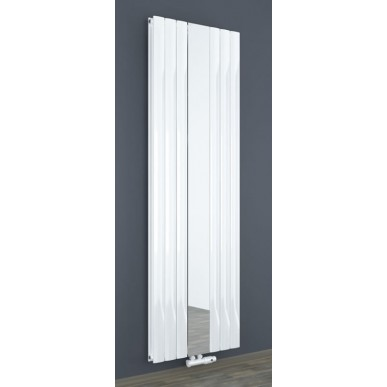 Design Spiegel Doppellagig Badheizkörper Weiß Mittelanschluss 1800x500x83