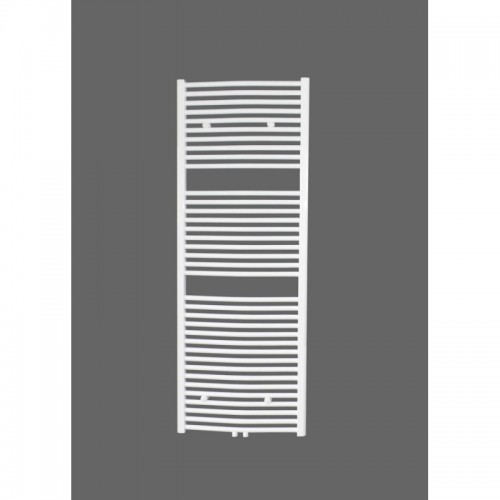 Badheizkörper 1500x450 mm Handtuchheizkörper Weiß Gebogen Mittelanschluss