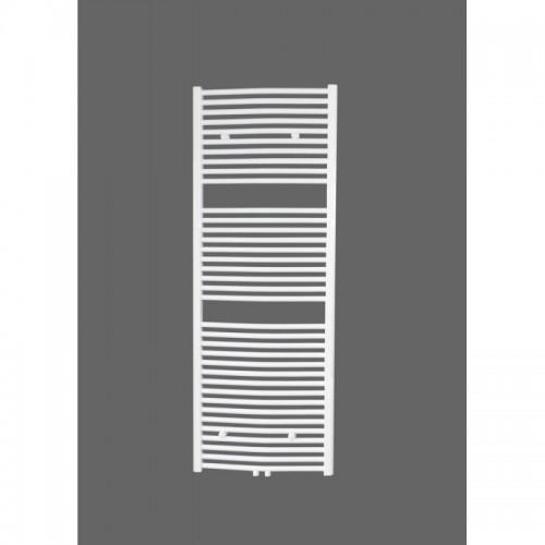 Badheizkörper 1600x500 mm Handtuchheizkörper Weiß gebogen Mittelanschluss