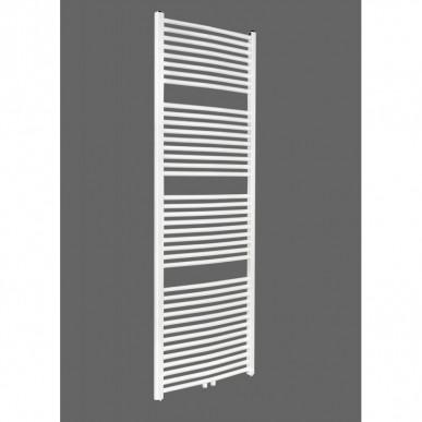 Badheizkörper 1800x500 mm Handtuchheizkörper Weiß gebogen Mittelanschluss