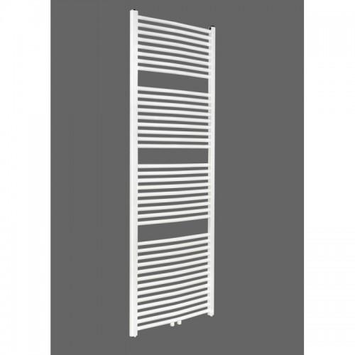 Badheizkörper 1800x600 mm Handtuchheizkörper Weiß gebogen Mittelanschluss