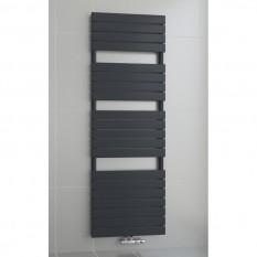 1600 x 600 mm Flach Anthrazit Badheizkörper Handtuchwärmer Mittelanschluss