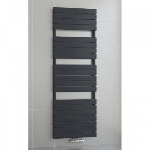 1800 x 500 mm Flach Anthrazit Badheizkörper Handtuchwärmer Mittelanschluss