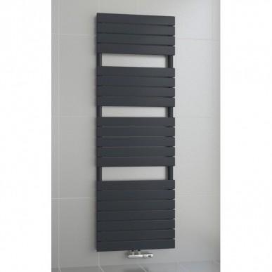 1800 x 600 mm Flach Anthrazit Badheizkörper Handtuchwärmer Mittelanschluss