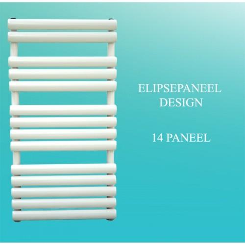 Badheizkörper Handtuchheizkörper 1000x500 Weiß Ellipse