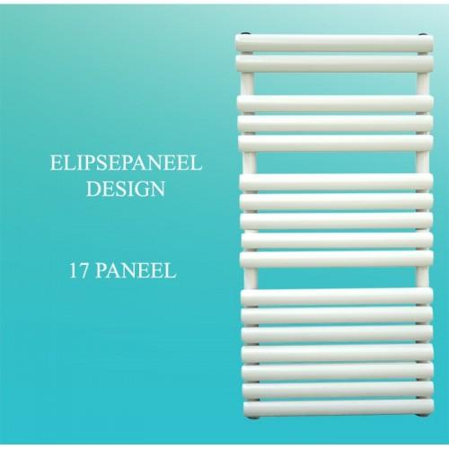 Badheizkörper Handtuchheizkörper 1200x600 mm Weiß Ellipse