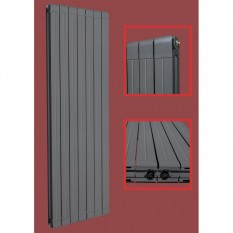 Aluminium Paneelheizkörper STRAIGHT 1600X563 Anthrazit Mittelanschluss