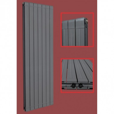 Aluminium Paneelheizkörper STRAIGHT 1600X563 Anthrazit Seitenanschluss
