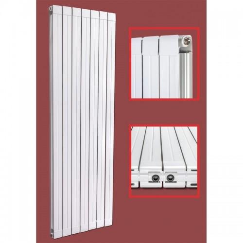 Aluminium Paneelheizkörper STRAIGHT 1800X563 Weiß Seitenanschluss