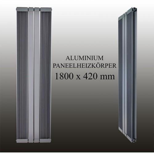 1800X420 Anthrazit Mittelanschluss Aluminium Paneelheizkörper Stripe