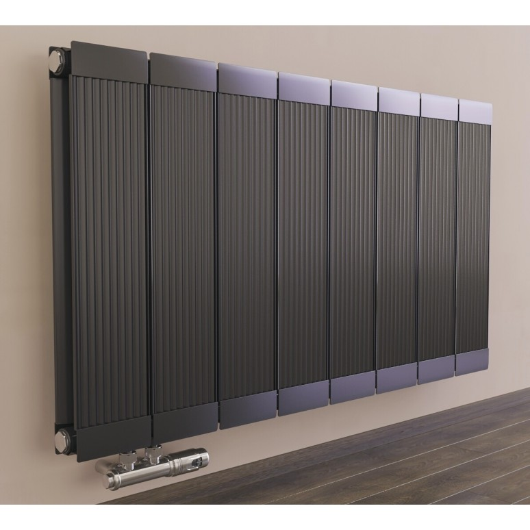 Bekannt 600 x 1260 mm Aluminium Anthrazit Horizontal Heizkörper Seiten NZ23