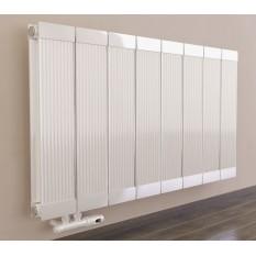 600 x 1260 mm Aluminium Weiß Horizontal Heizkörper Seiten & Mittelanschluss