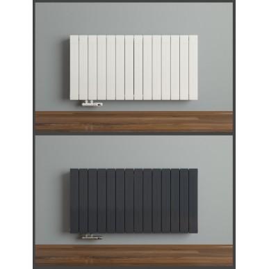 600x1148 Aluminium Horizontal Weiß Heizkörper Seiten & Mittelanschluss
