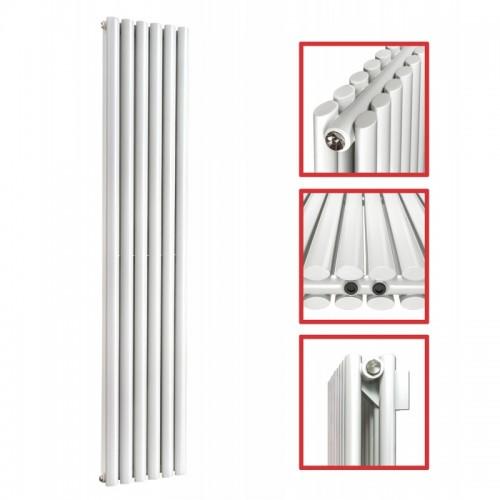 1800X 354 Ellipse Doppellagig Weiss Mittelanschluss Paneelheizkörper