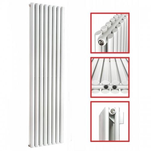 1800 x 472 Ellipse Doppellagig Weiss Seitenanschluss Paneelheizkörper