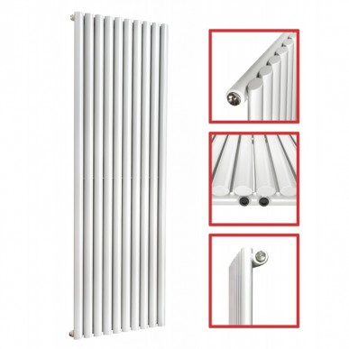 1600X 590 Ellipse Einlagig Weiss Seitenanschluss Paneelheizkörper
