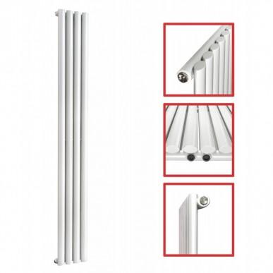 1800X 236 Ellipse Einlagig Weiss Seitenanschluss Paneelheizkörper