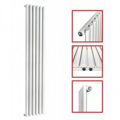 1800X 354 Ellipse Einlagig Weiss Seitenanschluss Paneelheizkörper