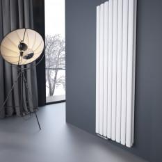 1600 x 536 mm Doppellagig Mittelanschluss Weiß Paneelheizkörper NEU Ellipse Design