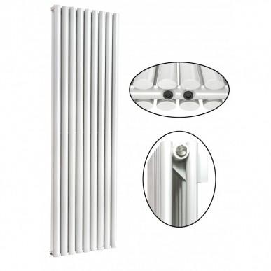 1800 x 630 mm Doppellagig Mittelanschluss Weiß Paneelheizkörper NEU Ellipse Design