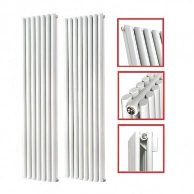 1800 x 560 mm Doppellagig Seitenanschluss Weiß Paneelheizkörper NEU Ellipse Design