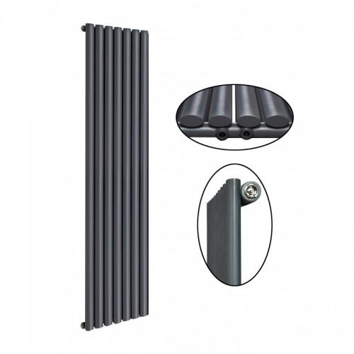 1800 x 490 mm Einlagig Mittelanschluss Anthrazit Paneelheizkörper NEU Ellipse Design