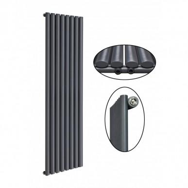 1800 x 560 mm Einlagig Mittelanschluss Anthrazit (RAL 7016) Paneelheizkörper NEU Ellipse Design