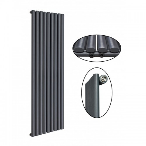 1800 x 630 mm Einlagig Seitenanschluss Anthrazit (RAL 7016) Paneelheizkörper NEU Ellipse Design