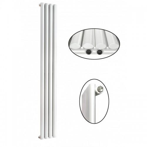 1600 x 280 mm Einlagig Seitenanschluss Weiß Paneelheizkörper NEU Ellipse Design