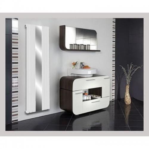 Spiegel Paneelheizkörper 1800x500 Doppellagig Weiß Ellipse Mittelanschluss