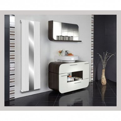 Spiegel Paneelheizkörper 1800x500 Doppellagig Weiß Ellipse Seitenanschluss