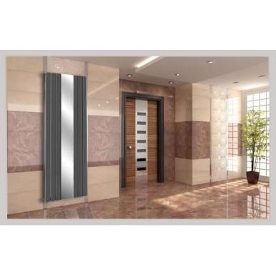 Spiegel Paneelheizkörper 1800x610 Doppellagig Anthrazit Flach Mittelanschluss