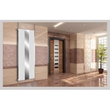 Spiegel Paneelheizkörper 1800x610 Doppellagig Weiß Flach Mittelanschluss
