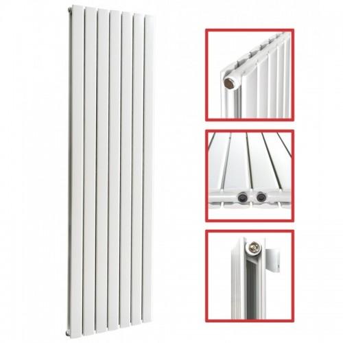 1800 x 608 mm Doppellagig Mittelanschluss Flach Weiß