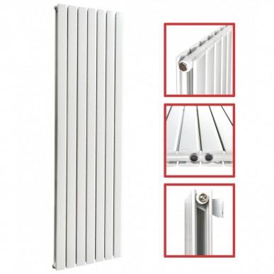 1800 x 608 mm Doppellagig Seitenanschluss Flach Weiß