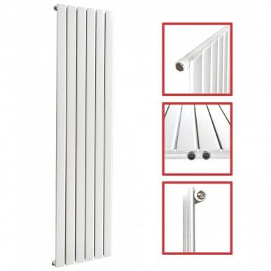 Einlagig Profil /1600 x 452 mm Einlagig Mittelanschluss Flach Weiß