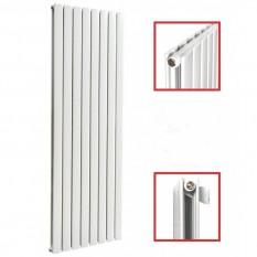 1600x619 Mittelanschluss Doppellagig FLACH Weiß Paneelheizkörper