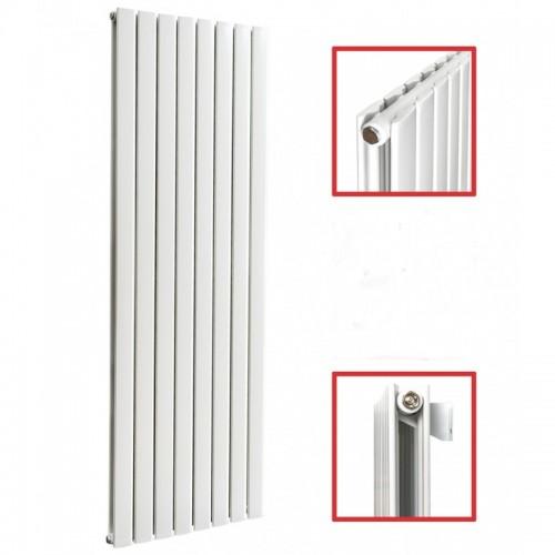 1600x619 Seitenanschluss Doppellagig FLACH Weiß Paneelheizkörper
