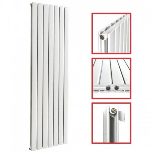1800x542 FLACH Doppellagig Weiß Seitenanschluss Paneelheizkörper