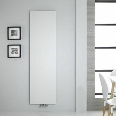 Design Flach Paneelheizkörper Mittelanschluss Slim Heizwand 1470x500 Weiss