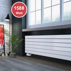 450 x 1600 mm doppellagig Weiß Flach Heizkörper Paneelheizkörper Horizontal Badheizkörper