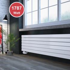 450 x 1800 mm doppellagig Weiß Flach Heizkörper Paneelheizkörper Horizontal Badheizkörper