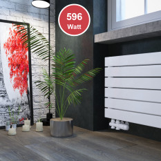 450 x 600 mm doppellagig Weiß Flach Heizkörper Paneelheizkörper Horizontal Badheizkörper