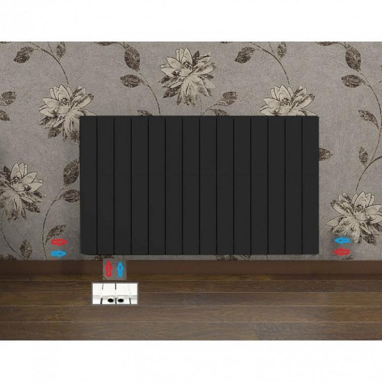 619x1600, anthrazit Design Flach Heizk/örper Paneelheizk/örper Horizontal Badheizk/örper Doppellagig