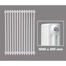 1000 X 605 mm Design Röhrenheizkörper Weiss 3 Lagig