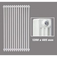 1200 X 605 mm Design Röhrenheizkörper Weiss 4 Lagig