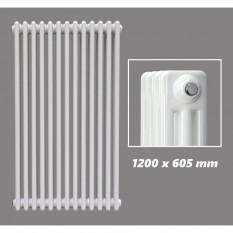 1200 X 605 mm Design Röhrenheizkörper Weiss 3 Lagig