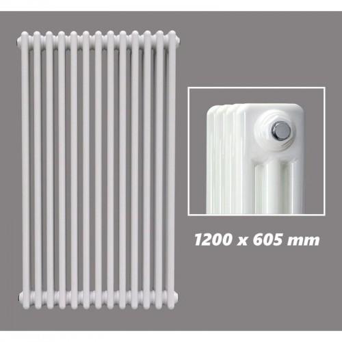 DESIGN RÖHRENHEIZKÖRPER 1200 X 605 MM WEISS (RAL 9016) 3 LAGIG
